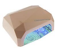 LED+CCFL Лампа для гель-лаков и для геля, сенсорная 36 Вт, шампань с таймером, фото 1