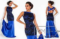 """Модное вечернее атласное платье """"Королева"""""""