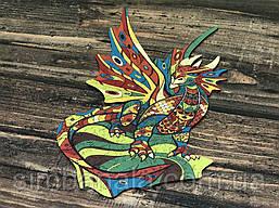 Дерев'яний фігурний пазл Goldy Dragon(108 деталей, розмір 32*26см)