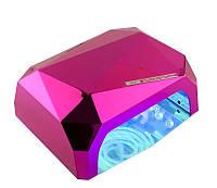 LED+CCFL Лампа гибридная, 36 Вт, насыщенная розовая, сенсорная, таймер, фото 1