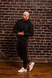Мужской весенний спортивный костюм OverSize (black), черный спортивный костюм ОверСайз, фото 2