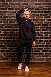 Мужской весенний спортивный костюм OverSize (black), черный спортивный костюм ОверСайз, фото 3