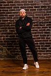 Чоловічий весняний спортивний костюм OverSize (black), чорний спортивний костюм ОверСайз, фото 4