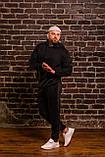 Мужской весенний спортивный костюм OverSize (black), черный спортивный костюм ОверСайз, фото 5