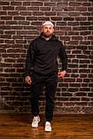 Чоловічий весняний спортивний костюм OverSize (black), чорний спортивний костюм ОверСайз, фото 6