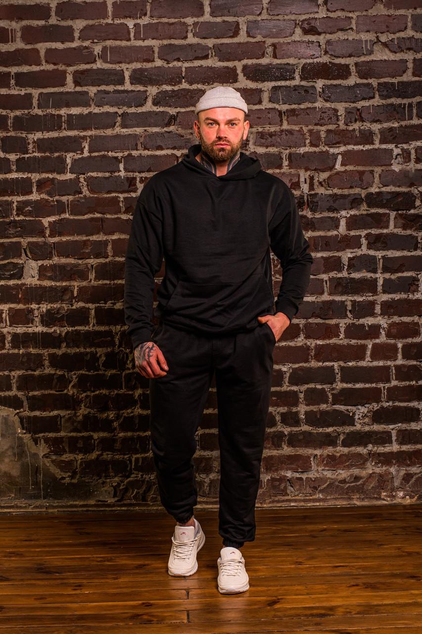 Мужской весенний спортивный костюм OverSize (black), черный спортивный костюм ОверСайз
