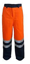 Брюки сигнальные Дорожник, оранжево-синие
