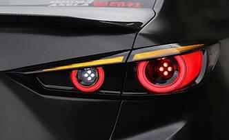 Фонари Mazda 3 BM (13-18) тюнинг LED оптика (черные)