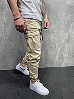 Мужские джинсы-карго 2Y Premium 8047 beige