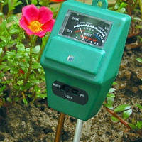 Вимірювач кислотності pH, вологості, освітленості грунту ЕТП-301 (3 в 1)