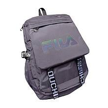 Рюкзак спортивный вместительный серый 079ВА