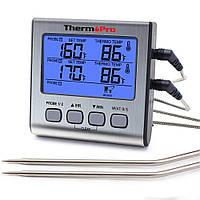 Термометр двоканальний для м'яса Thermopro TP17 (-10C до +300C) з таймером та магнітом, фото 1