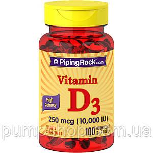 Вітамін Д-3 Piping Rock Vitamin D3 250 mcg (10000 IU) 100 капс.