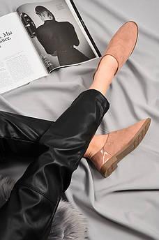 Туфли женские пудра AAA 129130M