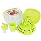 Столовий набір посуду для пікніка Bita 36 предметів на 4 персони, фото 3