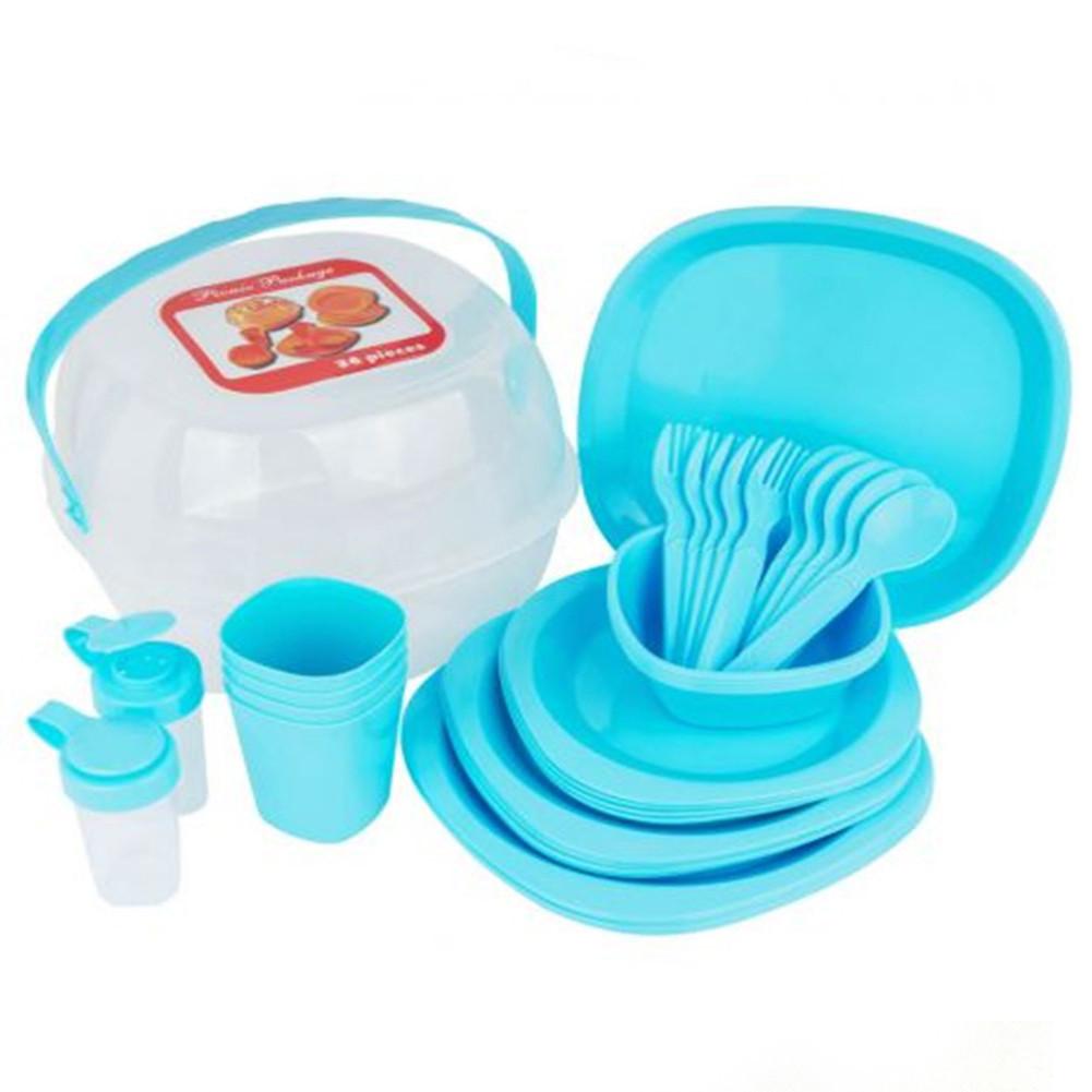 Столовий набір посуду для пікніка Bita 36 предметів на 4 персони