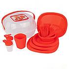 Столовий набір посуду для пікніка Bita 36 предметів на 4 персони, фото 2