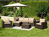 Комплект садовой мебели Allibert by Keter Moorea - California Duo Lounge Set искусственный ротанг, фото 2