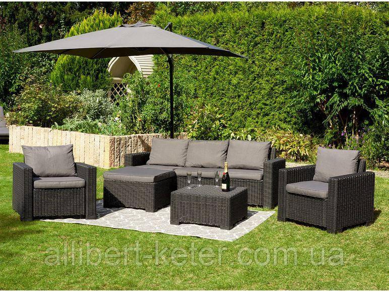 Комплект садовой мебели Allibert by Keter Moorea - California Duo Lounge Set искусственный ротанг