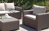 Комплект садовой мебели Allibert by Keter Moorea - California Duo Lounge Set искусственный ротанг, фото 4