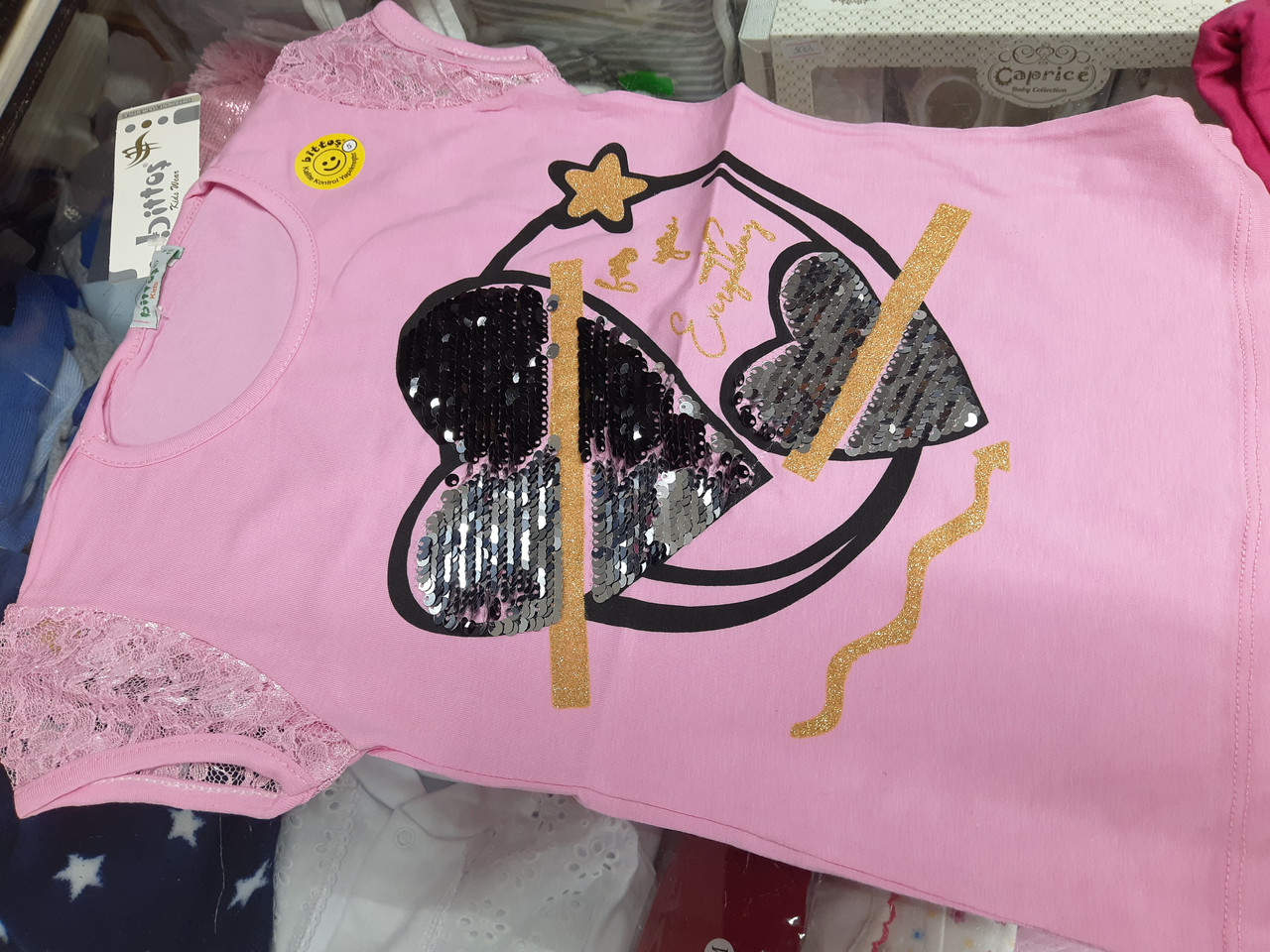 Нарядная футболка для девочки р.110 116 122