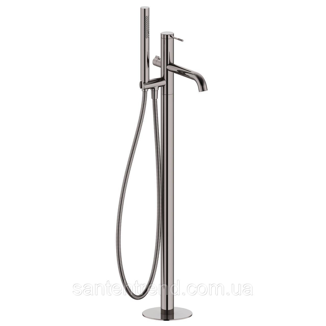 BRENTA змішувач для ванни окремостоячий, граф.хром, 35 мм