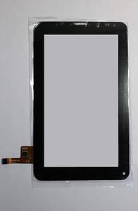 """Оригинальный Cенсор (Тачскрин) для планшета 7"""" Ployer MOMO9 12pin (186x109mm) (Черный)"""