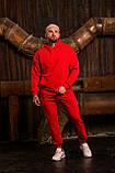 Мужской весенний спортивный костюм OverSize (red), красный спортивный костюм ОверСайз, фото 2