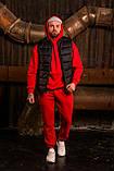 Мужской весенний спортивный костюм OverSize (red), красный спортивный костюм ОверСайз, фото 3