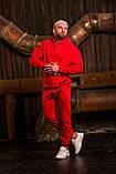 Мужской весенний спортивный костюм OverSize (red), красный спортивный костюм ОверСайз, фото 4