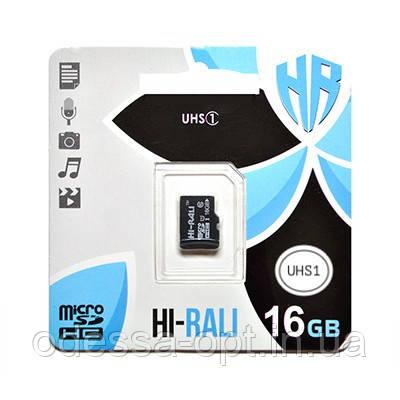 """Карта пам """" яті microSDHC (UHS-1) 16GB class 10 Hi-Rali"""
