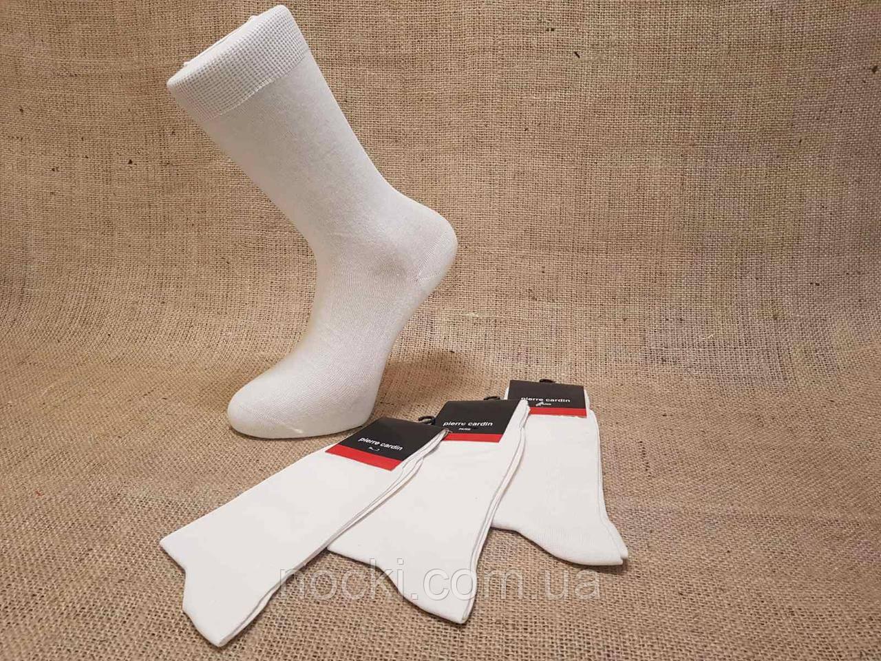 Чоловічі високі шкарпетки з бавовни П'єр Кардін 41-44 кремовий