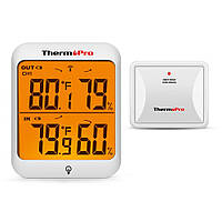 Термогігрометр ThermoPro TP63 (-20...+70°C; 10-99%; ±1°С; ±2%) з дистанційним датчиком T° (60 метрів), фото 1