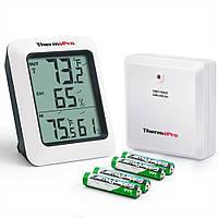 Термогігрометр ThermoPro TP60S (-20...+70°C; 10-99%; ±1°С; ±2%) з дистанційним датчиком T° (60 метрів), фото 1