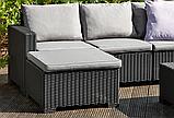 Комплект садовой мебели Allibert by Keter Moorea - California Duo Lounge Set искусственный ротанг, фото 8