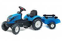 Трактор педальный детский Falk 2050C Landini с прицепом