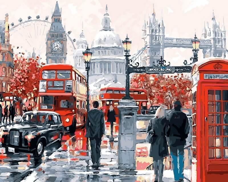 Картина по номерам рисование Babylon VP441 Очарование Лондона Худ.Ричард Макнейл 40х50см набор для росписи по