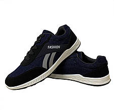 Кросівки чоловічі джинсові сині 43 розмір, фото 3