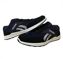 Кросівки чоловічі джинсові сині 43 розмір, фото 2
