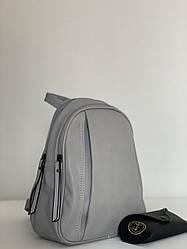 Сірий жіночий рюкзак міський Pretty Woman