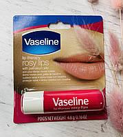 Бальзам вазелин для губ Vaseline lip therapy Rosy Lips
