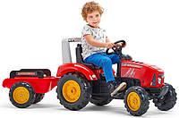 Трактор педальный детский Falk 2020AB с прицепом