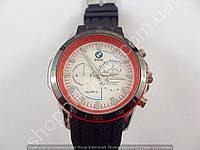 Часы BMW 013584 мужские серебристые с красным белый циферблат копия, фото 1