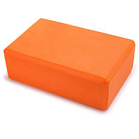 Блок для йоги и фитнеса опорный 225х150х75мм Оранжевый