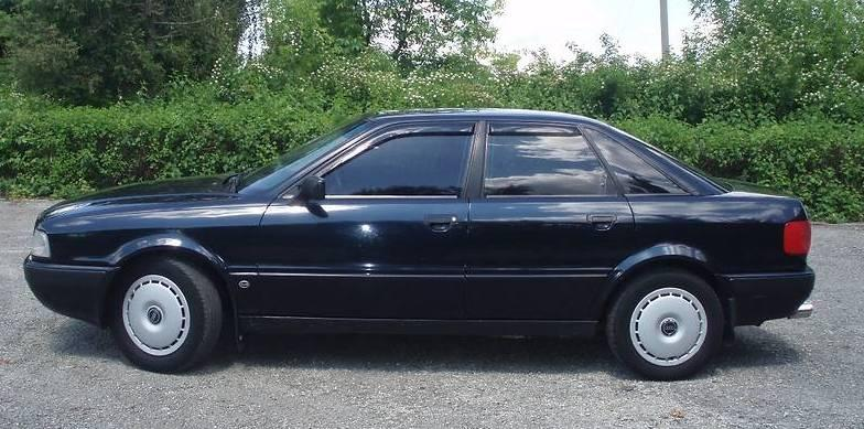 Дефлекторы окон (ветровики) Audi 80 Sd (B3/B4) 1986-1995 (Ауди 80) Cobra Tuning