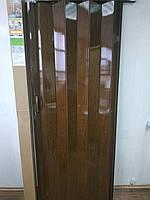 Двері гармошка №14 Каштан глуха 810*2030*6 мм доставка з Дніпра, фото 1