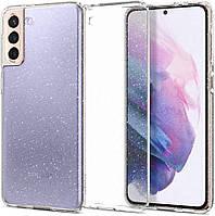 Чехол Spigen для Samsung Galaxy S21 Plus - Glitter, Crystal Quartz (ACS02384)