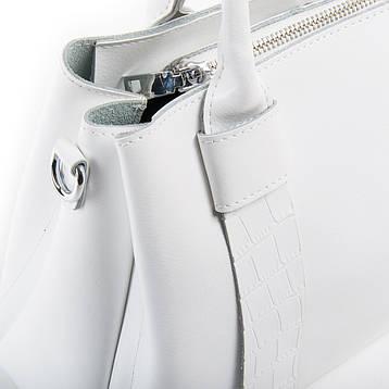 Сумка Женская Классическая кожа ALEX RAI 03-01 2235 белая, фото 2