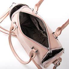 Сумка Женская Классическая кожа ALEX RAI 03-01 2231 розовая, фото 3