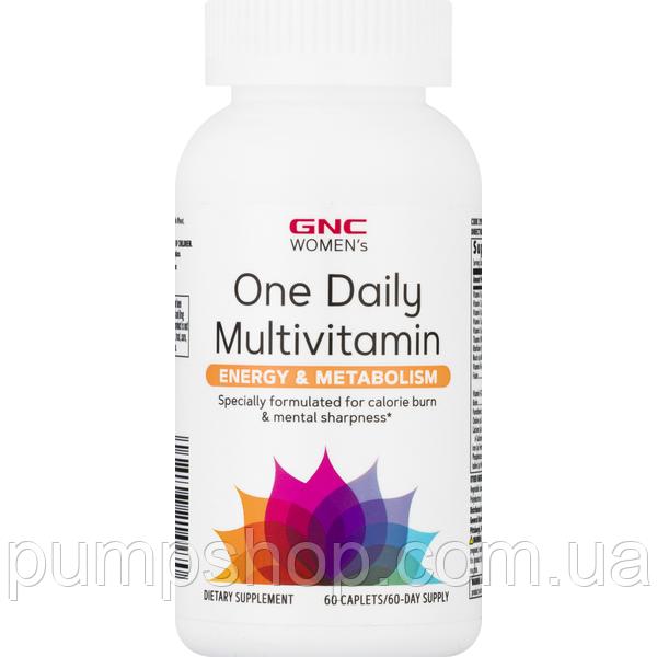 Витамины для женщин GNC Women`s One Daily Multivitamin Energy & Metabolism 60 таб.